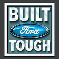 Built Ford Tough - Ladies Tri-Blend Racerback Tank Design