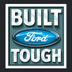 Built Ford Tough - Ladies V-Neck T Design