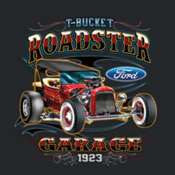 T-Bucket Roadster - Ladies V-Neck T Design