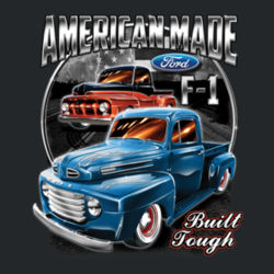 American Made - Ladies V-Neck T Design