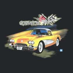 Classic Corvette - Ladies V-Neck T Design