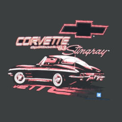 63 Corvette Splitback - Ladies Tri-Blend Racerback Tank Design