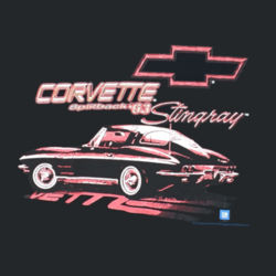 63 Corvette Splitback - Ladies V-Neck T Design