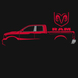 Red Ram - Adult Premium Blend T Design